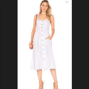 FREE PEOPLE WHITE BUTTON THROUGH DRESS